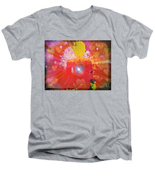 Peace And Love Meditation Men's V-Neck T-Shirt