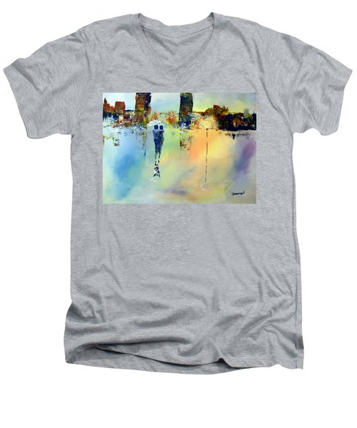Peace At Twilight Men's V-Neck T-Shirt by Raymond Doward