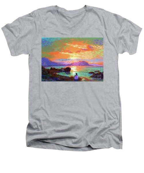 Peace Be Still Meditation Men's V-Neck T-Shirt