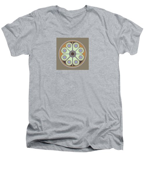 Peace Flower Circle Men's V-Neck T-Shirt