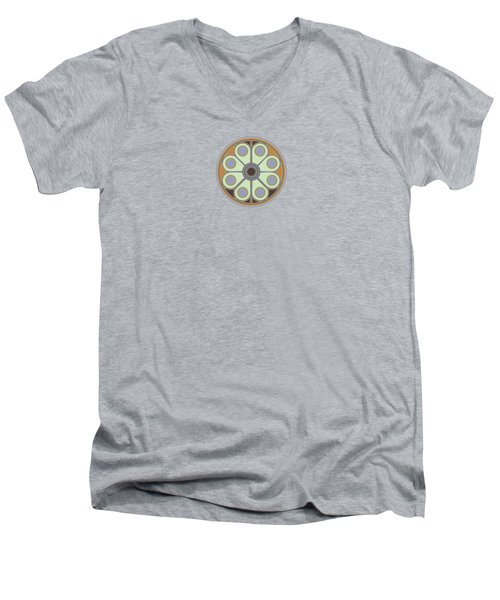 Peace Flower Men's V-Neck T-Shirt