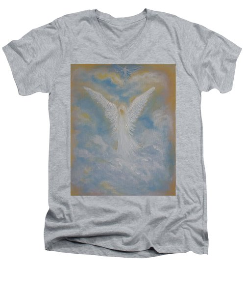 Peace From An Angel  Men's V-Neck T-Shirt