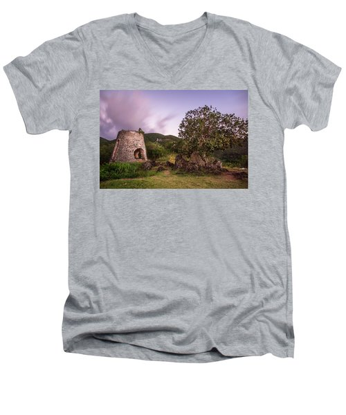 Men's V-Neck T-Shirt featuring the photograph Peace Hill Ruins by Adam Romanowicz