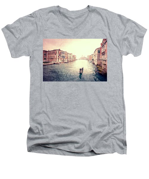Peace In Venice Men's V-Neck T-Shirt