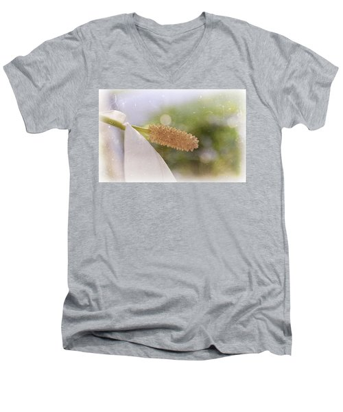 Peace Lily Men's V-Neck T-Shirt