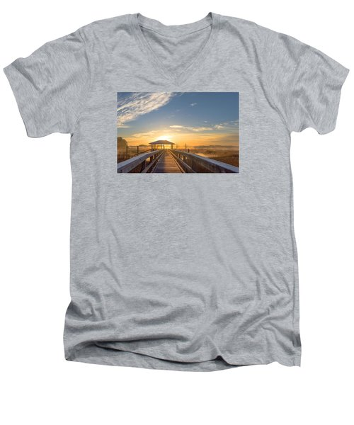 Men's V-Neck T-Shirt featuring the photograph Peace by Margaret Palmer