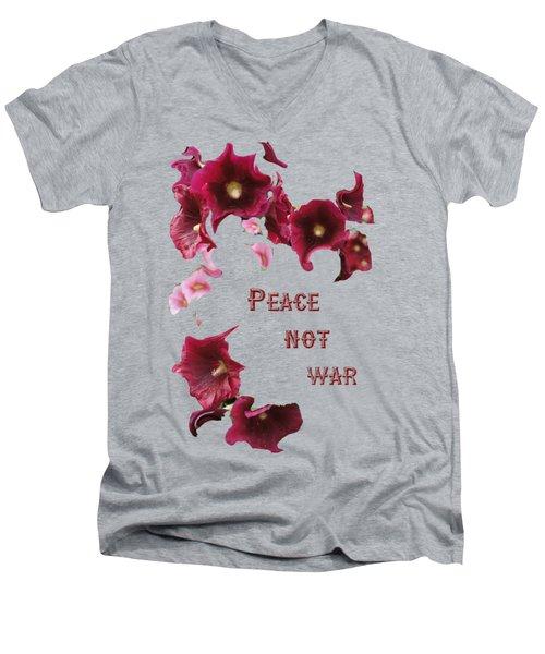 Peace Not War Men's V-Neck T-Shirt by David and Lynn Keller