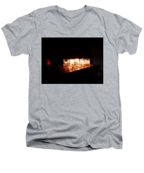 Peace On A Stormy Night Men's V-Neck T-Shirt