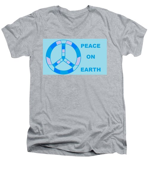 Peace On Earth 3 Men's V-Neck T-Shirt