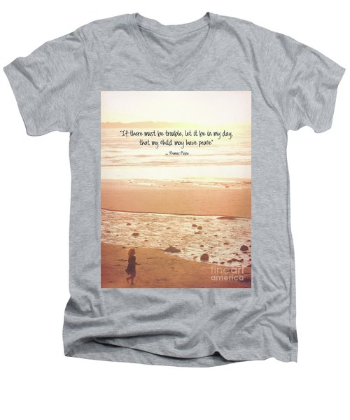 Men's V-Neck T-Shirt featuring the photograph Peace by Peggy Hughes