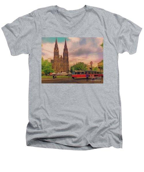 Peace Square Prague Men's V-Neck T-Shirt