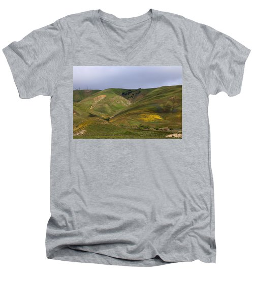 Men's V-Neck T-Shirt featuring the photograph Peace Valley by Viktor Savchenko