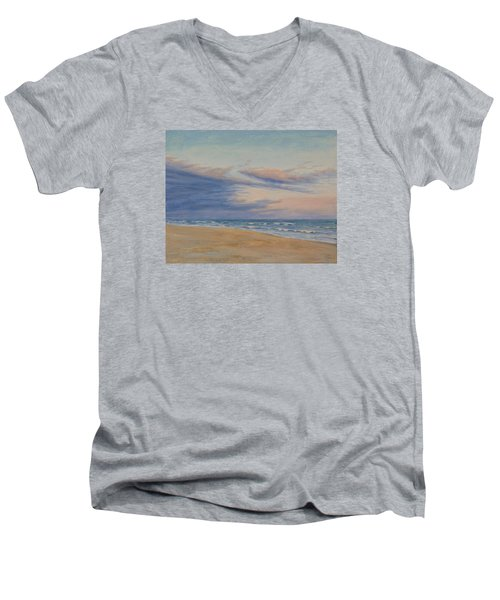 Peaceful Men's V-Neck T-Shirt by Joe Bergholm
