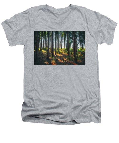 Peaceful Forest - Spring At Retzer Nature Center Men's V-Neck T-Shirt by Jennifer Rondinelli Reilly - Fine Art Photography