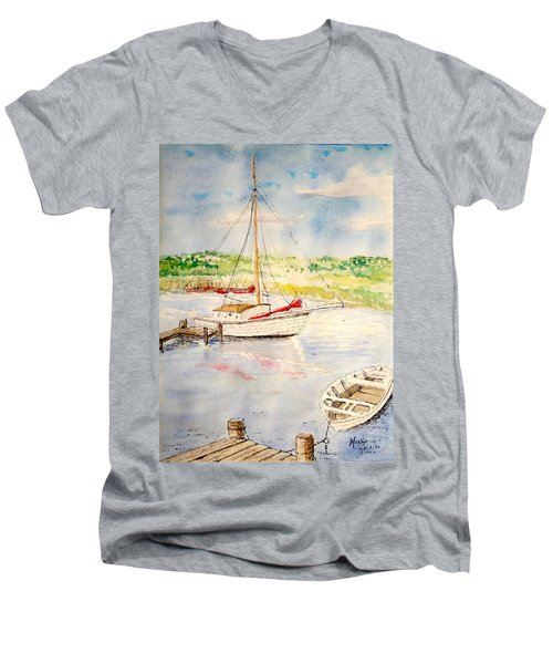 Peaceful Harbor Men's V-Neck T-Shirt