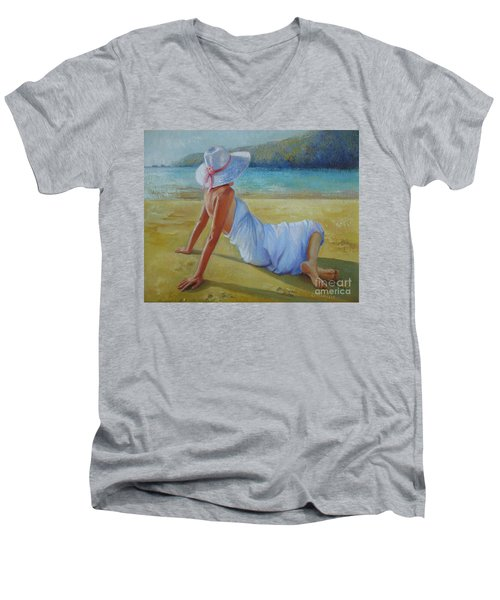 Peaceful Moments Men's V-Neck T-Shirt