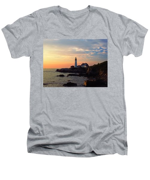 Peaceful Mornings Men's V-Neck T-Shirt