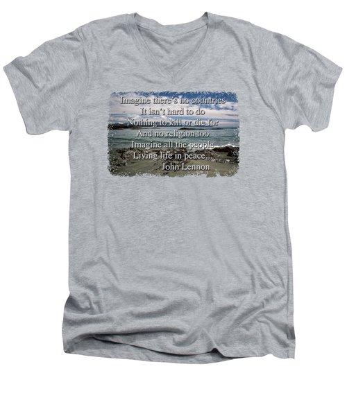 Peaceful Pacific Beach Men's V-Neck T-Shirt