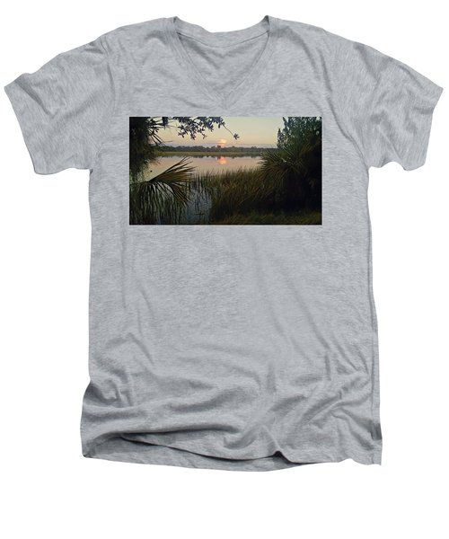 Peaceful Palmettos Men's V-Neck T-Shirt