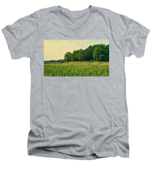 Peaceful Pastures Men's V-Neck T-Shirt
