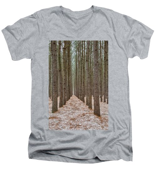 Peaceful Pines Men's V-Neck T-Shirt