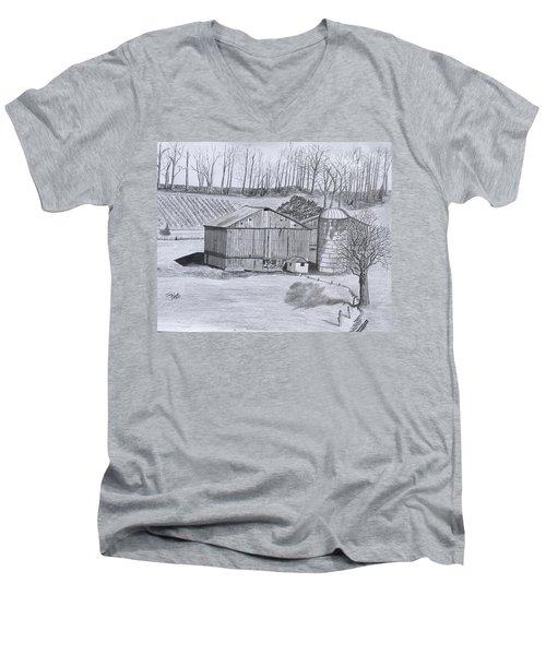 Peaceful Setting  Men's V-Neck T-Shirt