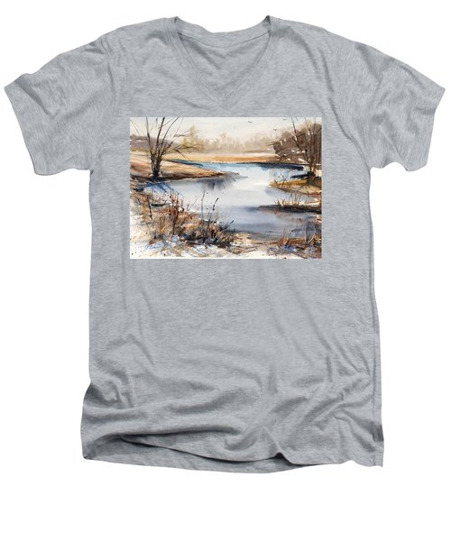 Peaceful Stream Men's V-Neck T-Shirt