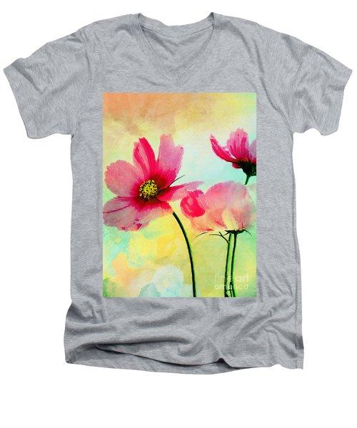 Men's V-Neck T-Shirt featuring the digital art Peacefulness by Klara Acel