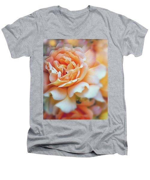 Peach Delight Men's V-Neck T-Shirt