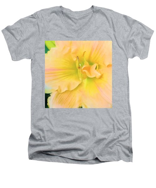 Peach Lily Men's V-Neck T-Shirt
