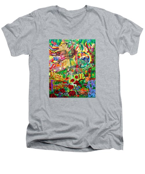 Peach Music Festival 2015 Men's V-Neck T-Shirt by Kevin J Cooper Artwork
