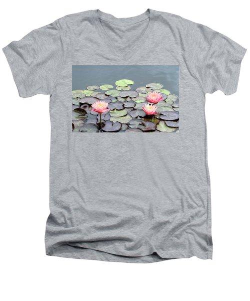 Peach Men's V-Neck T-Shirt