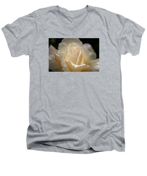 Peach Rose Men's V-Neck T-Shirt