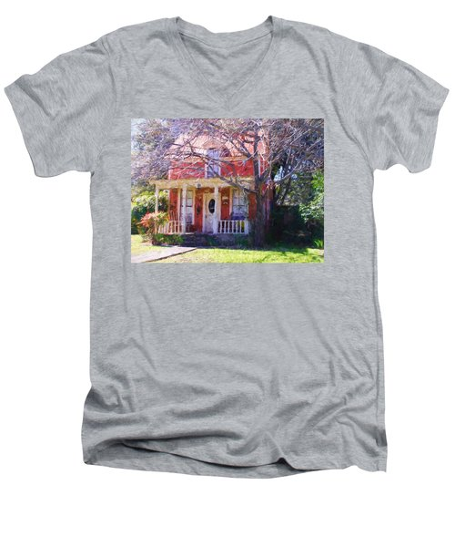 Peach Tree Bed And Breakfast Men's V-Neck T-Shirt