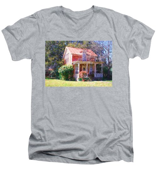 Peach Tree Bed And Breakfast2 Men's V-Neck T-Shirt