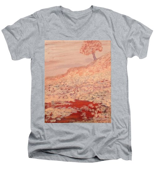 Peachy Day Men's V-Neck T-Shirt