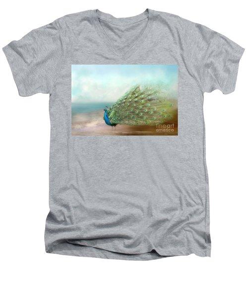 Peacock Beauty Men's V-Neck T-Shirt