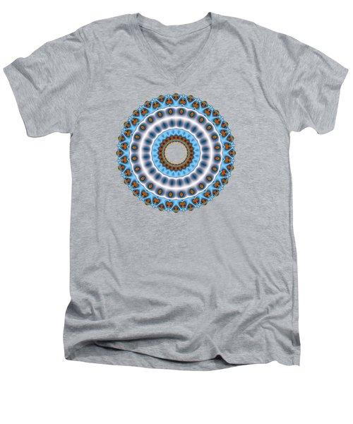 Peacock Fractal Mandala I Men's V-Neck T-Shirt