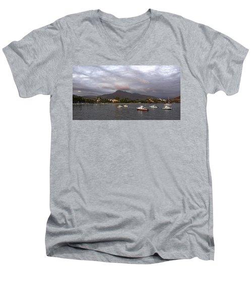 Peaceful Men's V-Neck T-Shirt by Jim Walls PhotoArtist