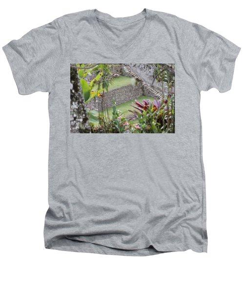 Peeking In At Machu Picchu Men's V-Neck T-Shirt