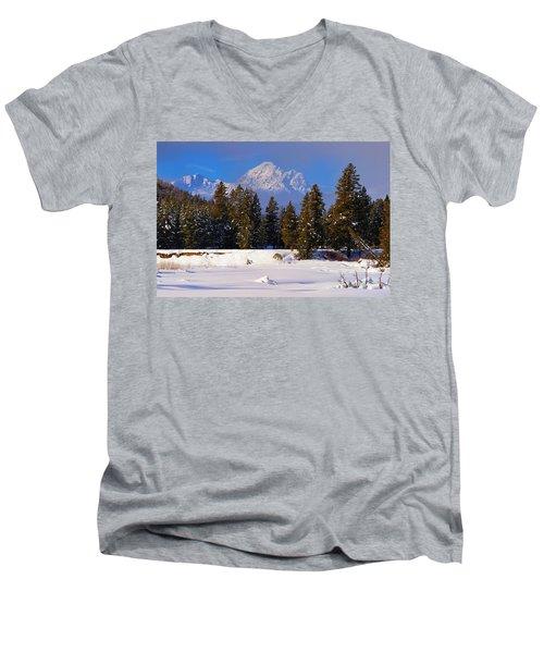 Peaking Through Men's V-Neck T-Shirt