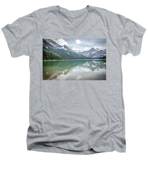 Peaks At Lake Josephine Men's V-Neck T-Shirt