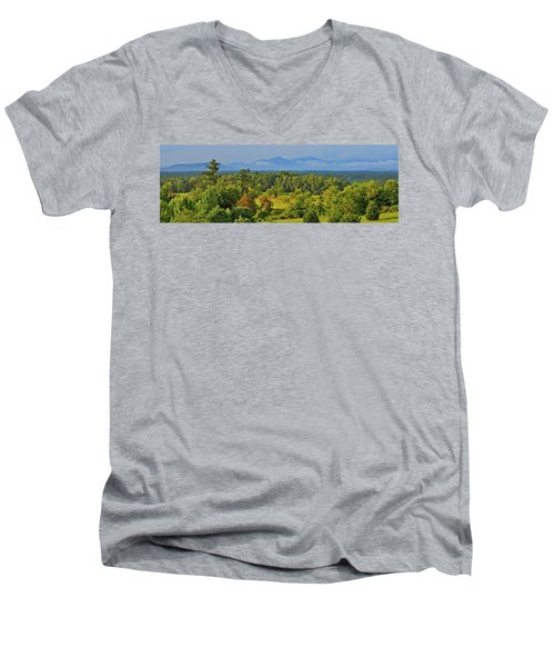 Peaks Of Otter After The Rain Men's V-Neck T-Shirt by The American Shutterbug Society