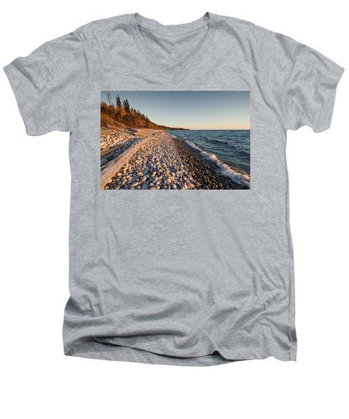 Pebble Beach Autumn    Men's V-Neck T-Shirt