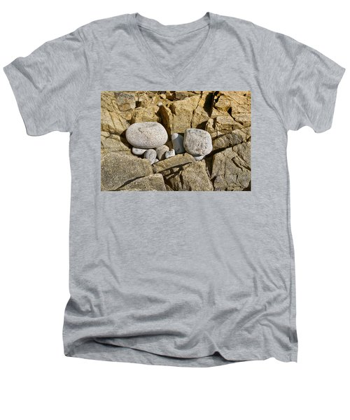 Men's V-Neck T-Shirt featuring the photograph Pebble Pocket Photo by Peter J Sucy