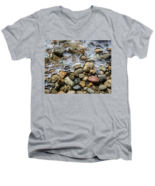 Pebbles And Ice Men's V-Neck T-Shirt