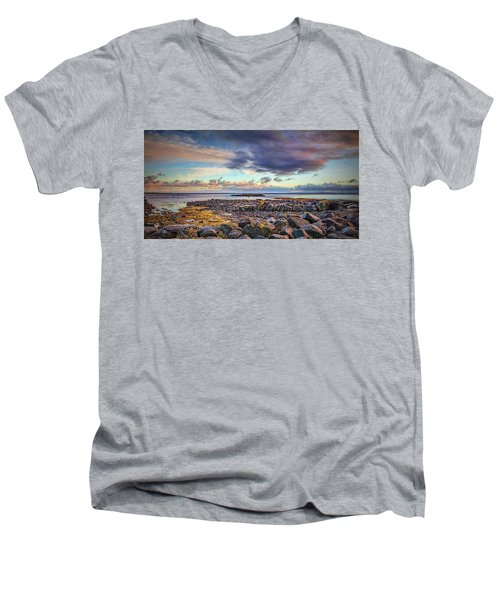 Pebbles And Sky  #h4 Men's V-Neck T-Shirt
