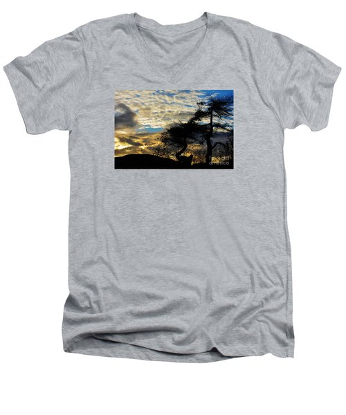Pebbles Beach Pine Tree Men's V-Neck T-Shirt