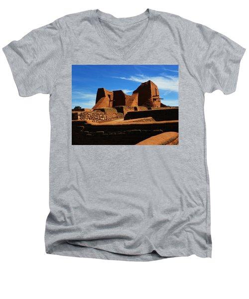 Pecos New Mexico Men's V-Neck T-Shirt by Joseph Frank Baraba
