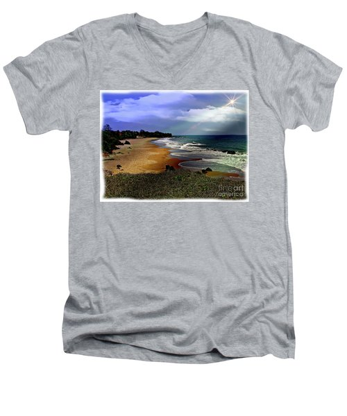 Pedasi Beach, In The Dry Arc Of Panama Men's V-Neck T-Shirt